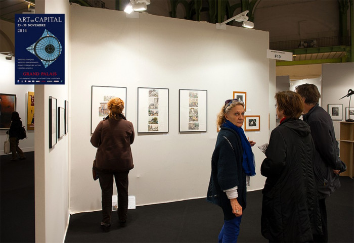 "Alena Dergiliova The Exibitor Of The Salon ""ART EN CAPITAL"" France, Paris, 2014"