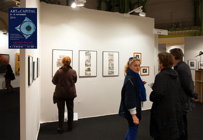 """Alena Dergiliova The Exibitor Of The Salon """"ART EN CAPITAL"""" France, Paris, 2014"""